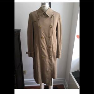 AQUASCUTUM OF LONDON TAN DOUBLE BREASTED TRENCH